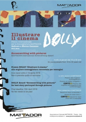 "Premio DOLLY ""Illustrare storie per il cinema"""