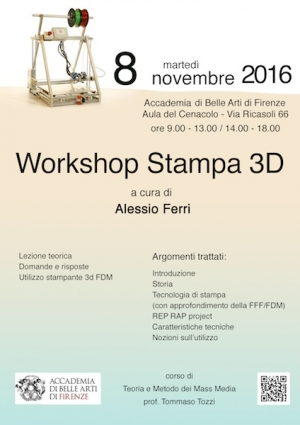 Stampa 3D in Accademia