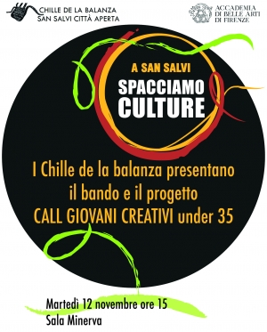 Spacciamo Culture, call per giovani creativi di Chille de la balanza